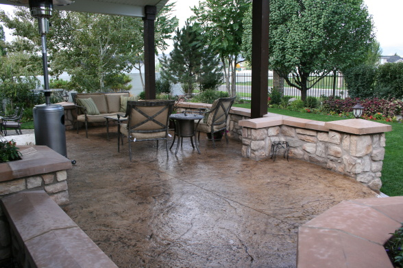 10 Cool Stamped Concrete Patio Ideas For Your Patio Garden - HGNV.COM