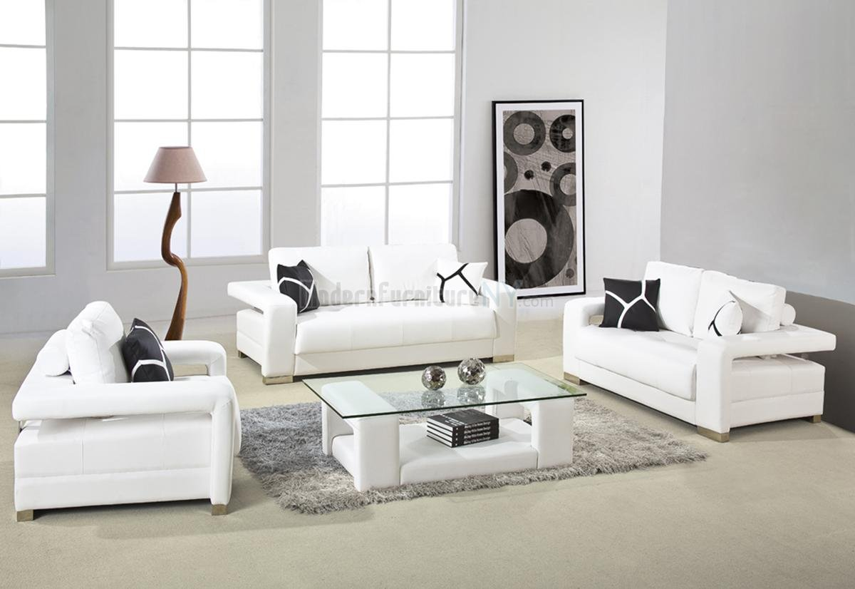 VIEW IN GALLERY Living Room Furniture Design White Contemporary Sofa Sets