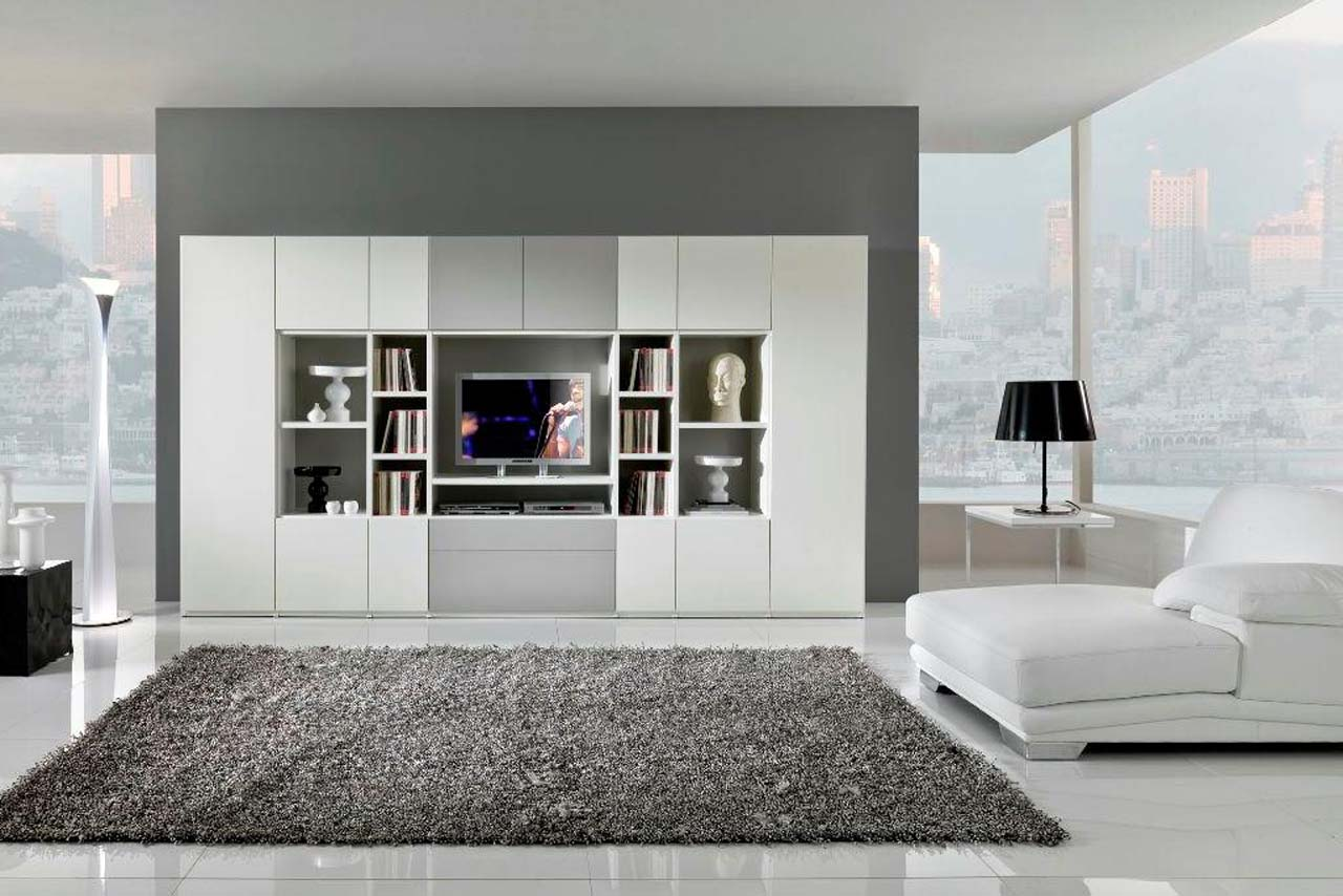 VIEW IN GALLERY Modern Contemporary Living Room Design With Leather White  Sofa