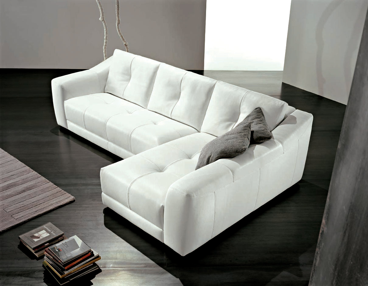 15 awesome white living room furniture for your living space - Sofa rinconera moderno ...