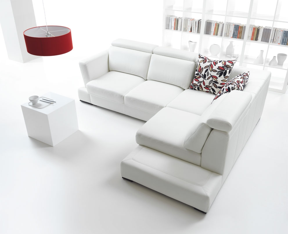VIEW IN GALLERY White Sectional Sofa Set Design For Flooring Living Room