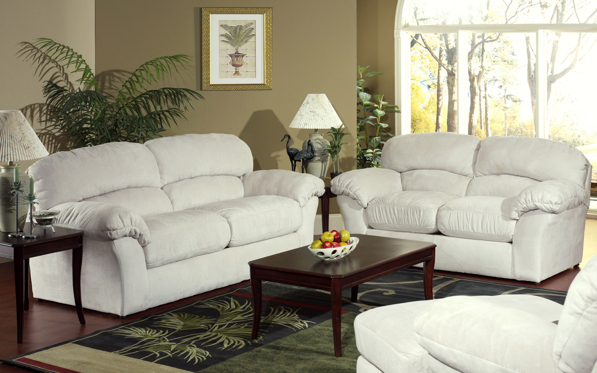 VIEW IN GALLERY White Sofa Sets For Living Room Cozy Contemporary Living  Room Furniture