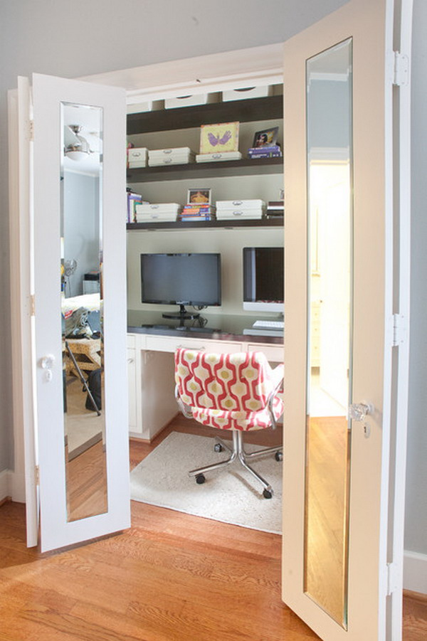 Cool home office design layout for small space