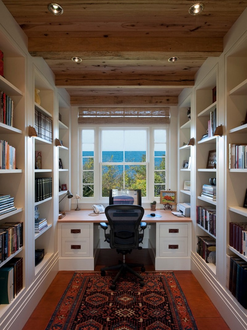 Small Home Office Design Ideas Decor With Black Ergonomic Chair