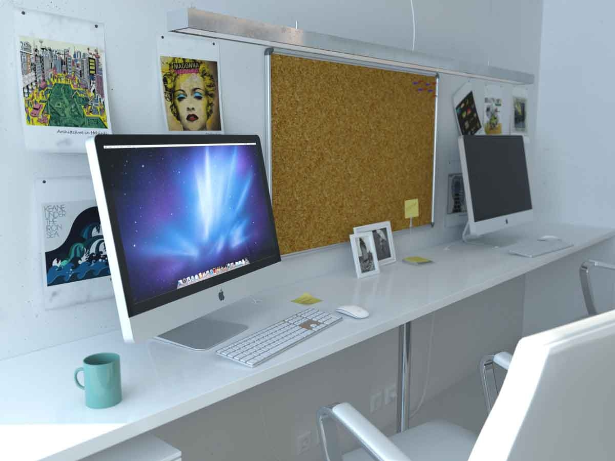 Small home office designs with 2 computer home office desk
