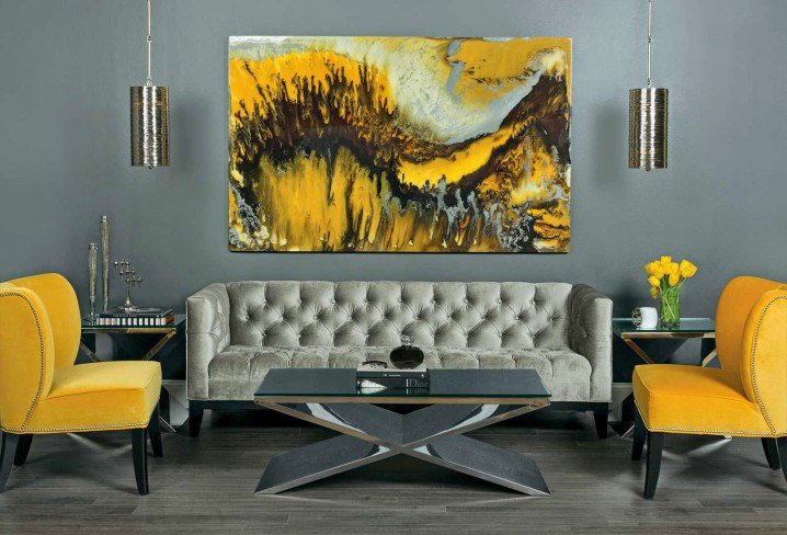 Grey Black And Yellow Living Room 15 Fascinating Grey And Yellow Living Room  Designs Part 82