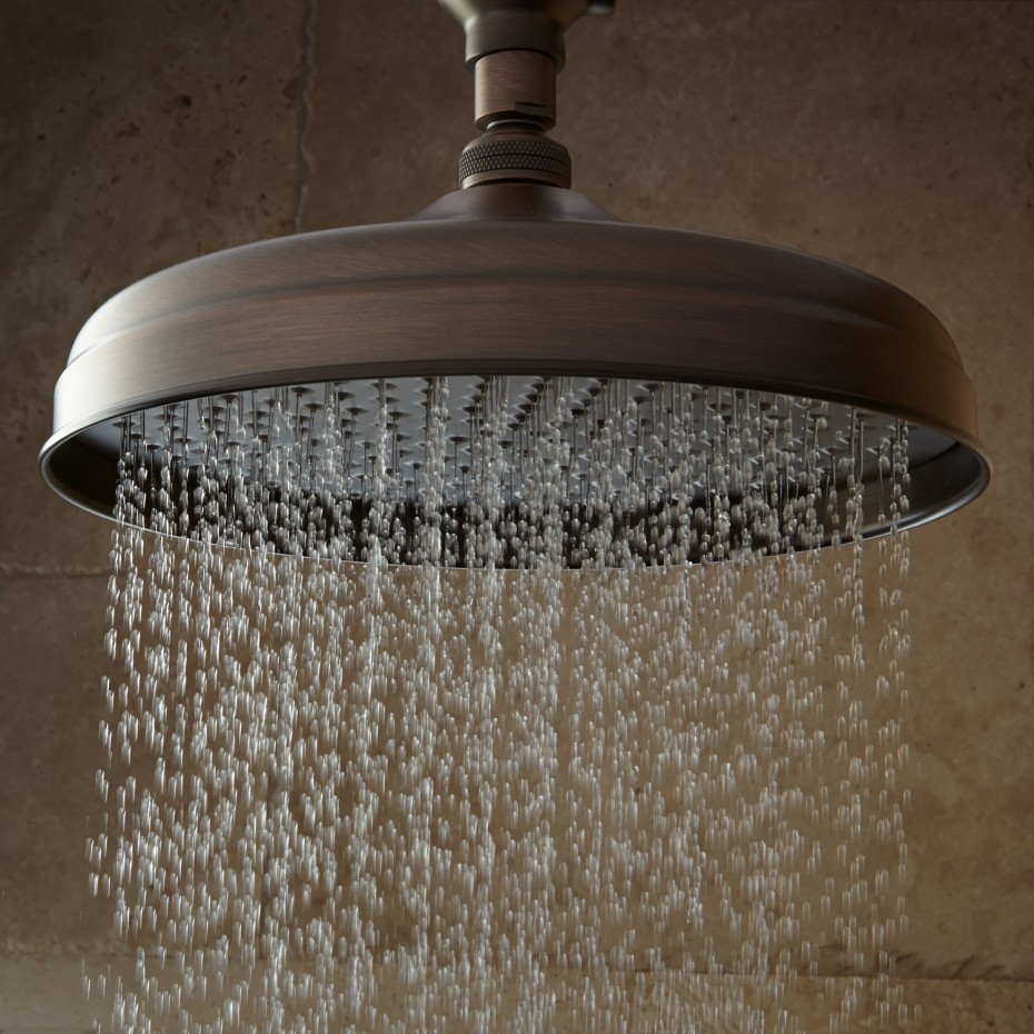 Bathroom Interior Decoration Luxurious Bell Shaped Shower Head Style Ceiling Rain Shower For Stunning Traditional Bathroom Decorating Ideas