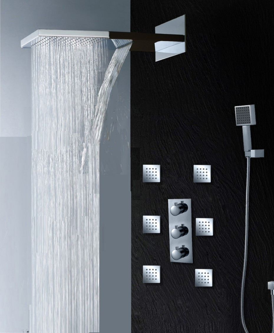 Bathroom rain showers - View In Gallery Bathroom Shower Heads Ideas Awesome Downpour Rain Shower Heads