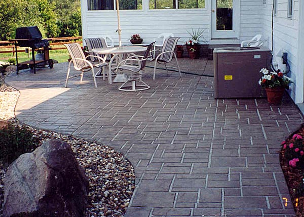 Stamped Concrete Design Ideas pattern stamped concrete View In Gallery Unique Stamped Concrete Patterns For Backyard Landscaping With Stamped Concrete Patio Or Pave And Wrought Iron