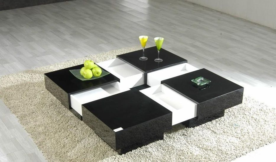 modern contemporary black and white coffee table design awesome large coffee table