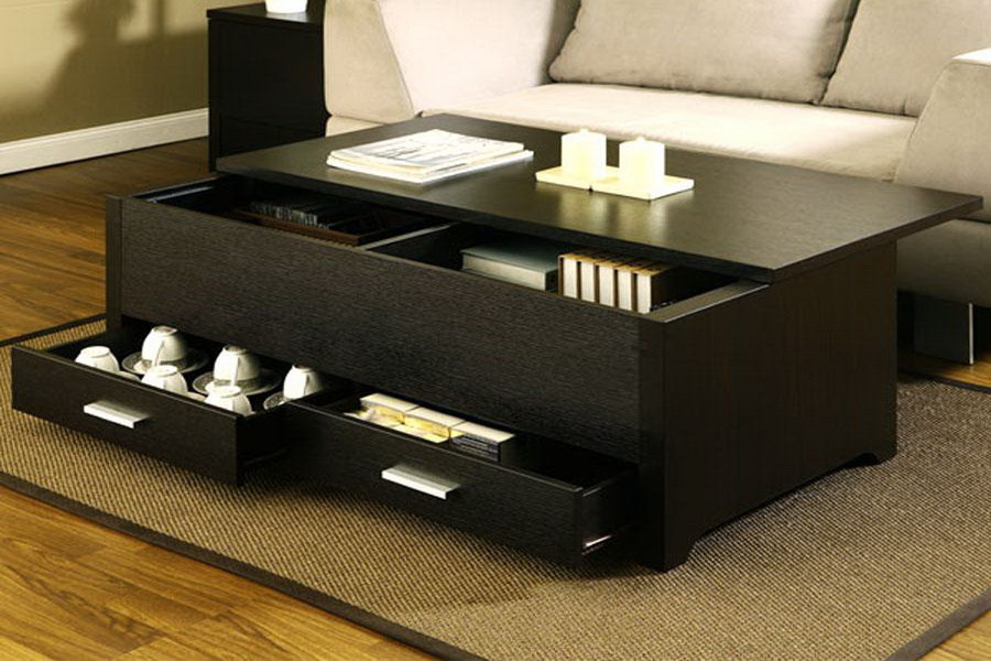 rustic wood coffee table design ideas with storage