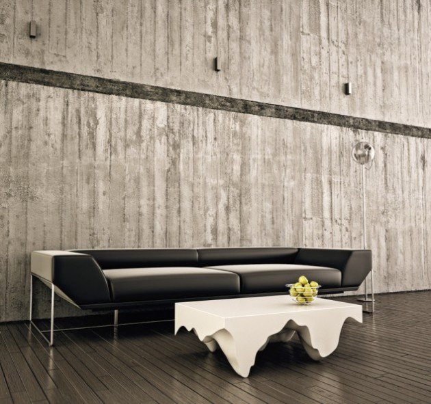 solid wood white gloss coffee table design ideas for contemporary living room