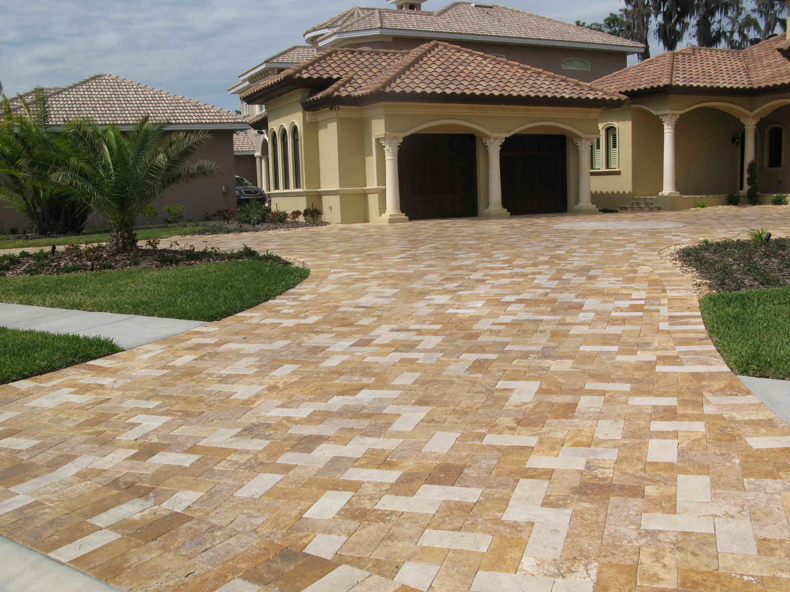 stamped concrete driveway patio design ideaseverything you need - Concrete Design Ideas