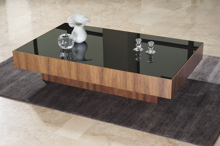 Wood And Gl Black Countertop Coffee Table Design Ideas Contemporary
