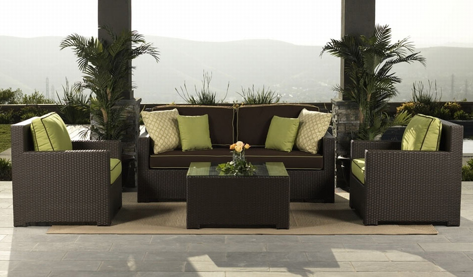 awesome rattan garden furniture hgnv com - Garden Furniture Sofa Sets