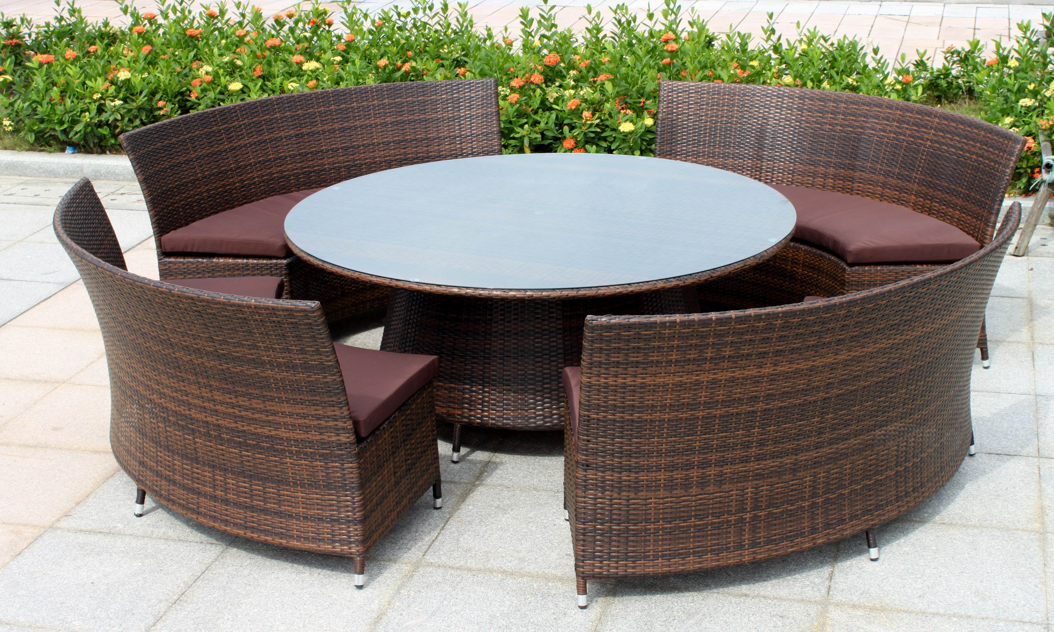 All Weather Outdoor Rattan Garden Sofa Set