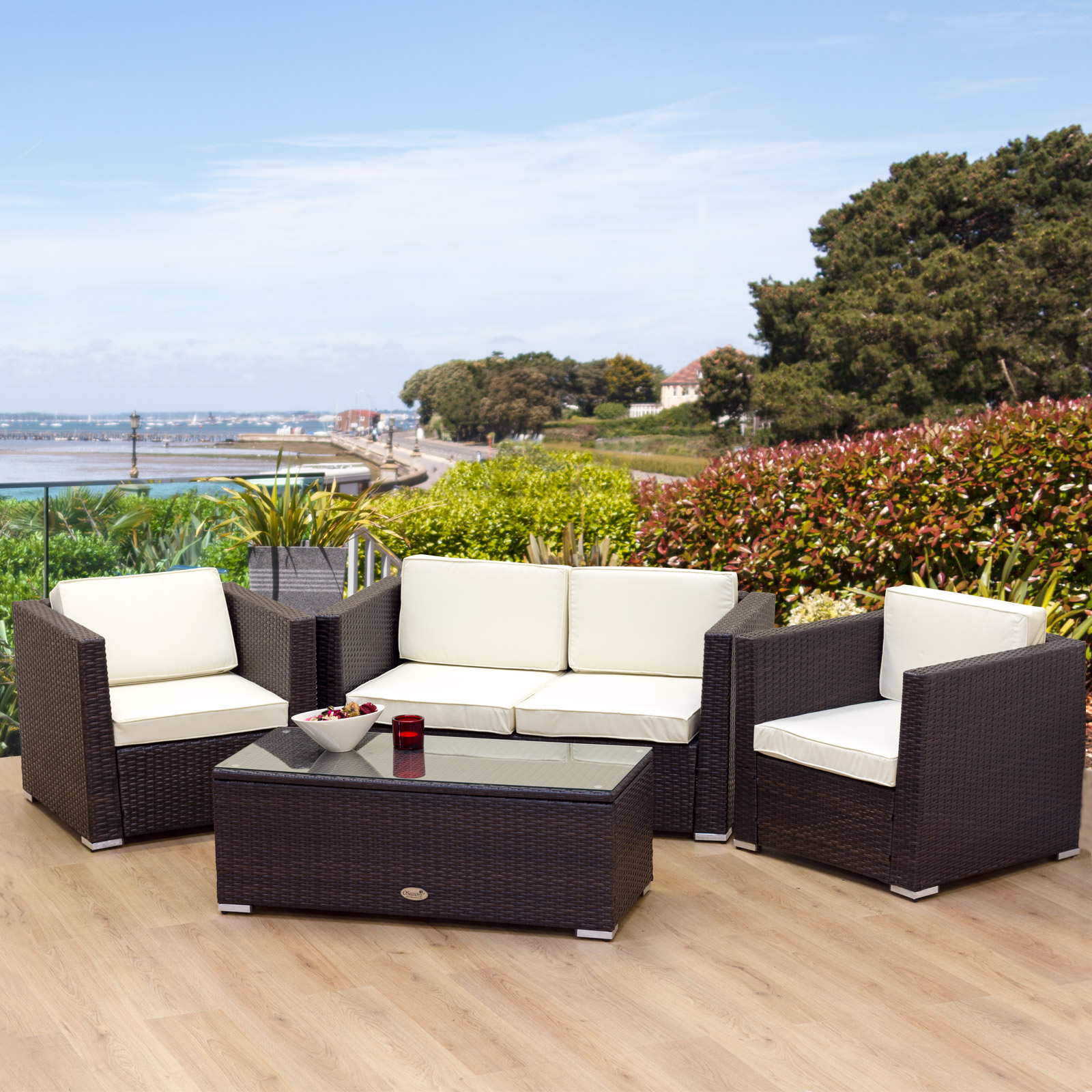 Awesome rattan garden furniture hgnv com for Bamboo outdoor furniture