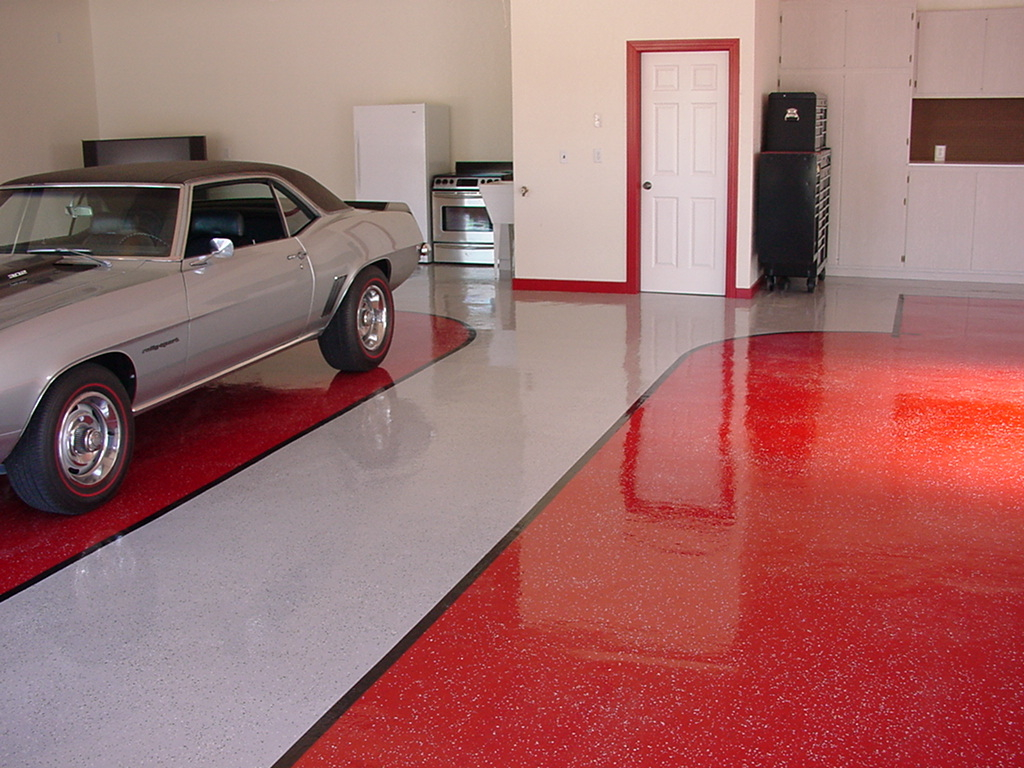 Nice color epoxy paint for garage floor