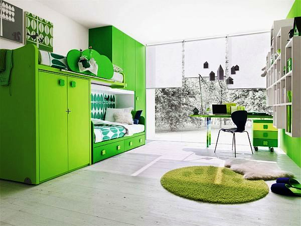 10 Super Clever Lime Green Kids Bedroom Ideas