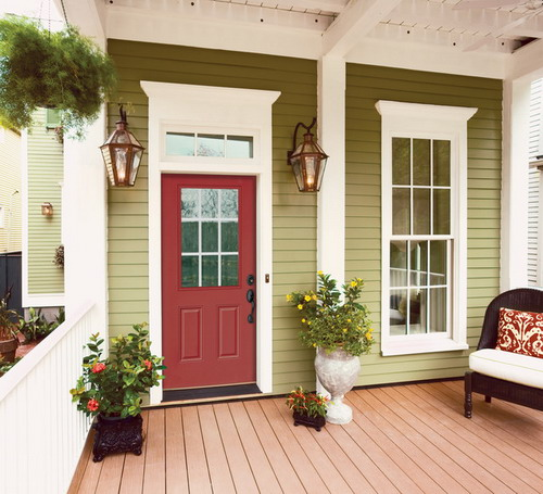 Ranch Half Lite Entry Door Traditional entrance doors Decor by HomeStory of Orange County