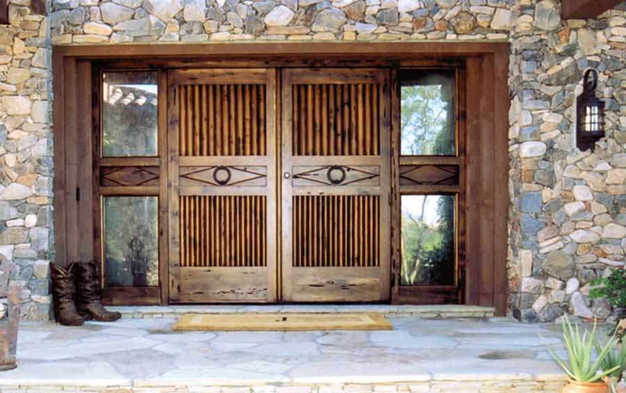 20 gorgeous front doors and entryways design of century for Outside main door design