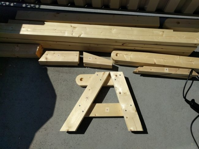 diy folding bench step 2