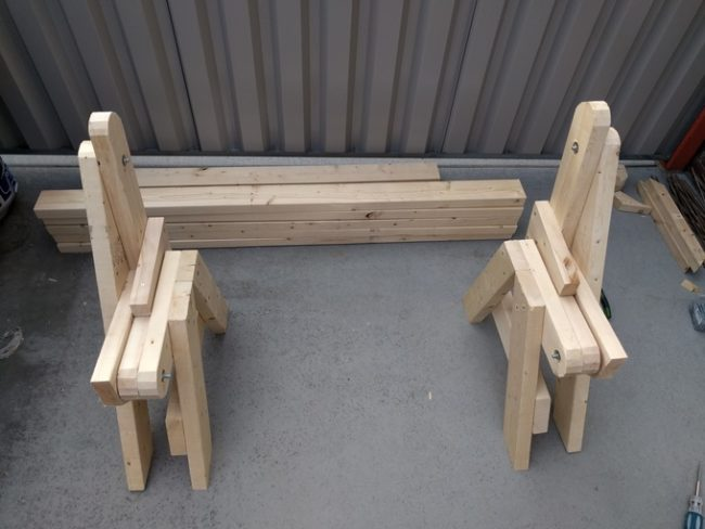 diy folding bench step 6