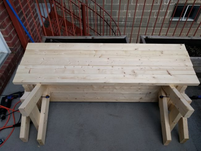 diy folding bench step 8
