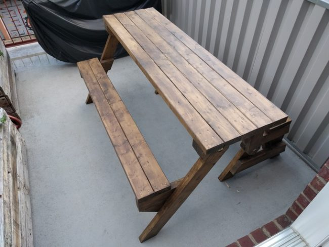 folding to picnic bench