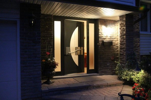 modern front doors with glass for homes