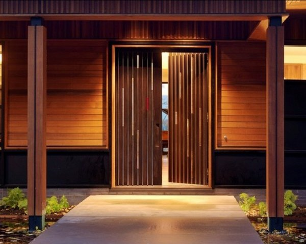 simple country house wooden front doors