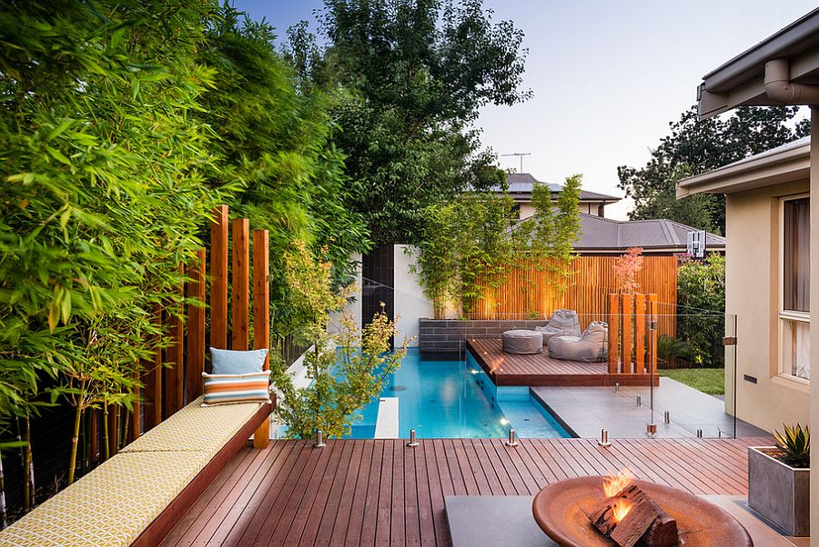 VIEW IN GALLERY Small Yard Pool Landscaping