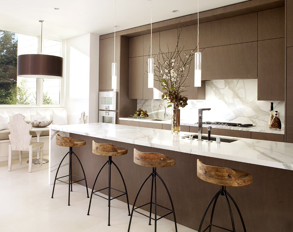 Modern Kitchen Counter Stools 7 Most Popular Types Of Kitchen Countertops Materials Hgnvcom