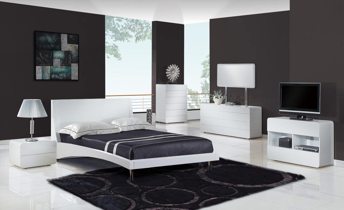VIEW IN GALLERY Modern luxury bedroom design in grey and white concept with  modern bedroom furniture combined a big. 10 Eye Catching Modern Bedroom Decoration Ideas   Modern Inspirations