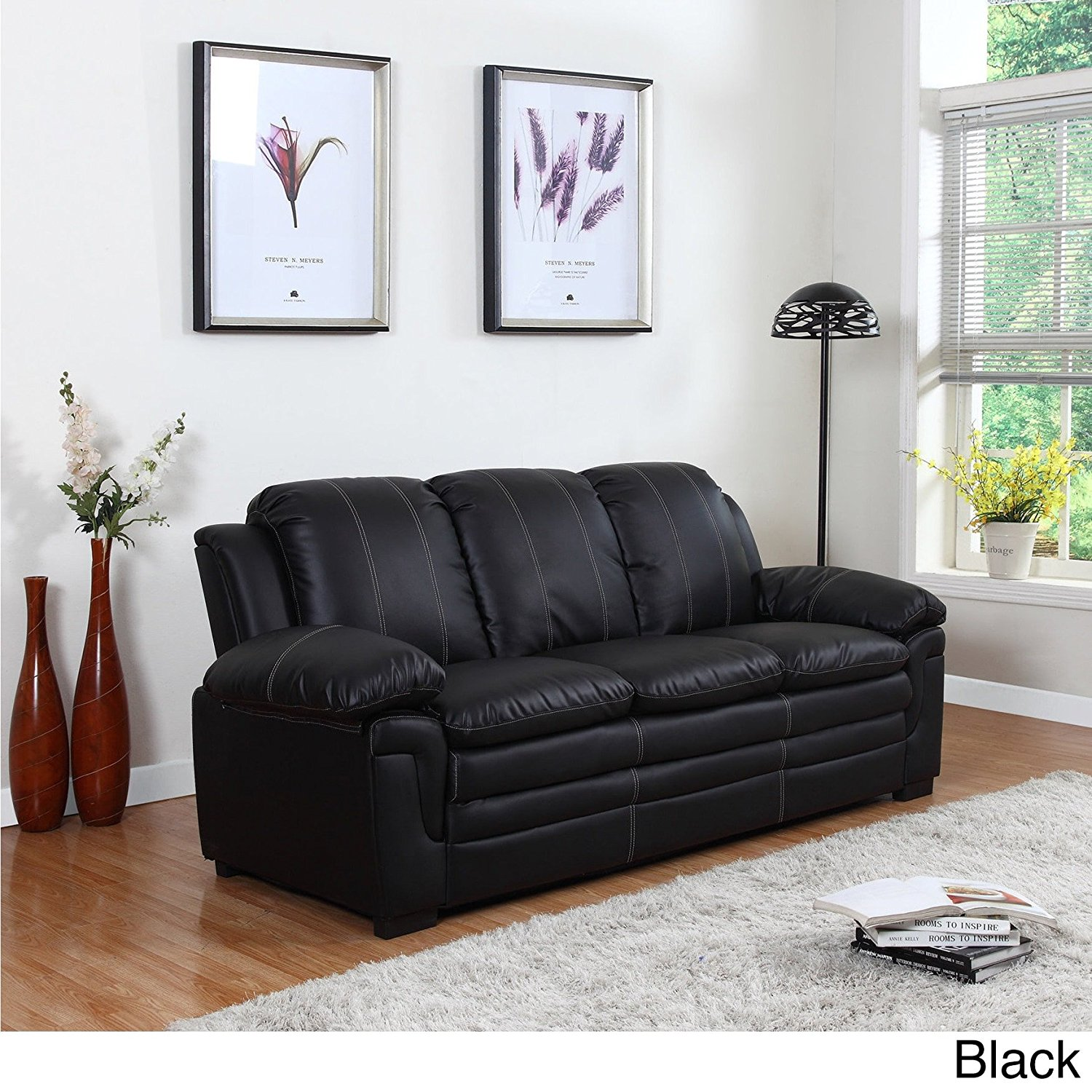 Black Living Room Furniture: Awesome Black Living Room Furniture Set