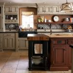 wooden freestanding kitchen island
