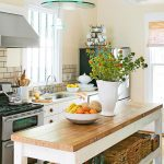 wooden kitchen island freestanding with butcher block top