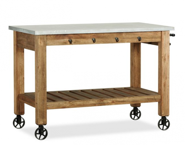 wheel freestanding kitchen island from wood