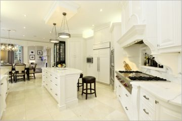 white wood free standing kitchen cabinet idea