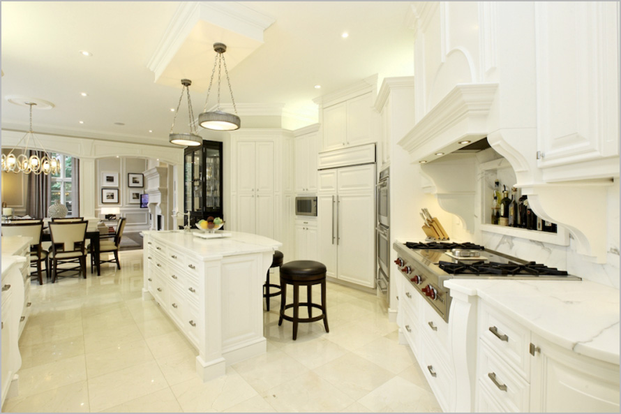 white wood Free standing kitchen cabinets idea