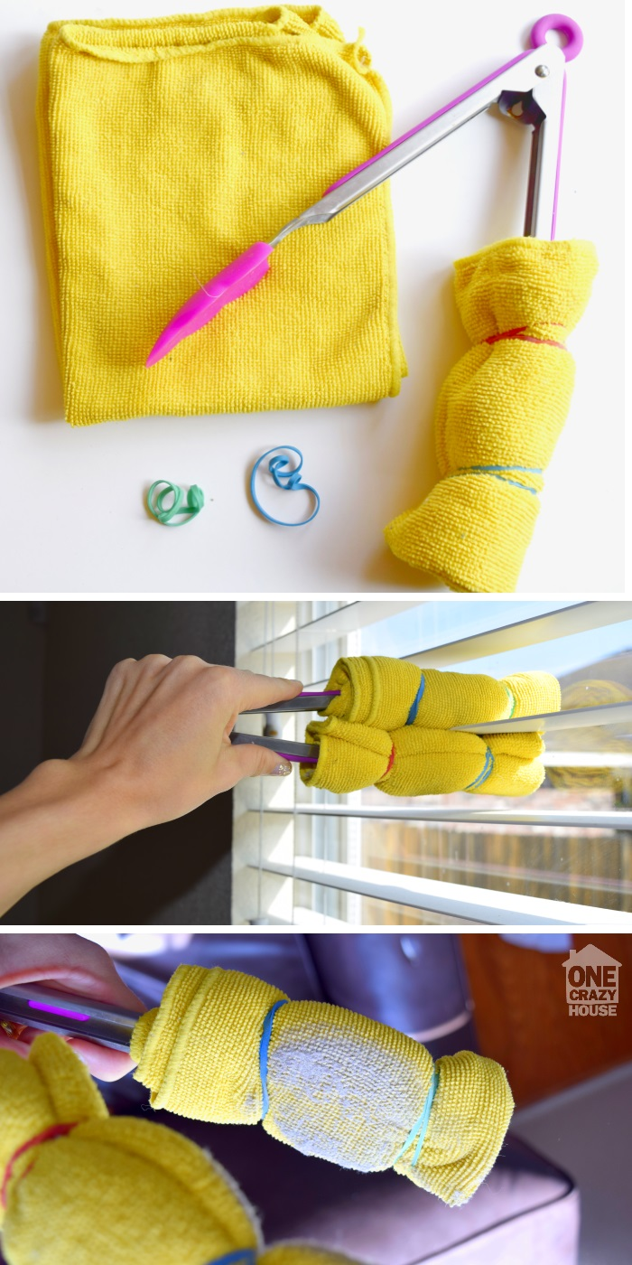 Easy way to clean your window blinds