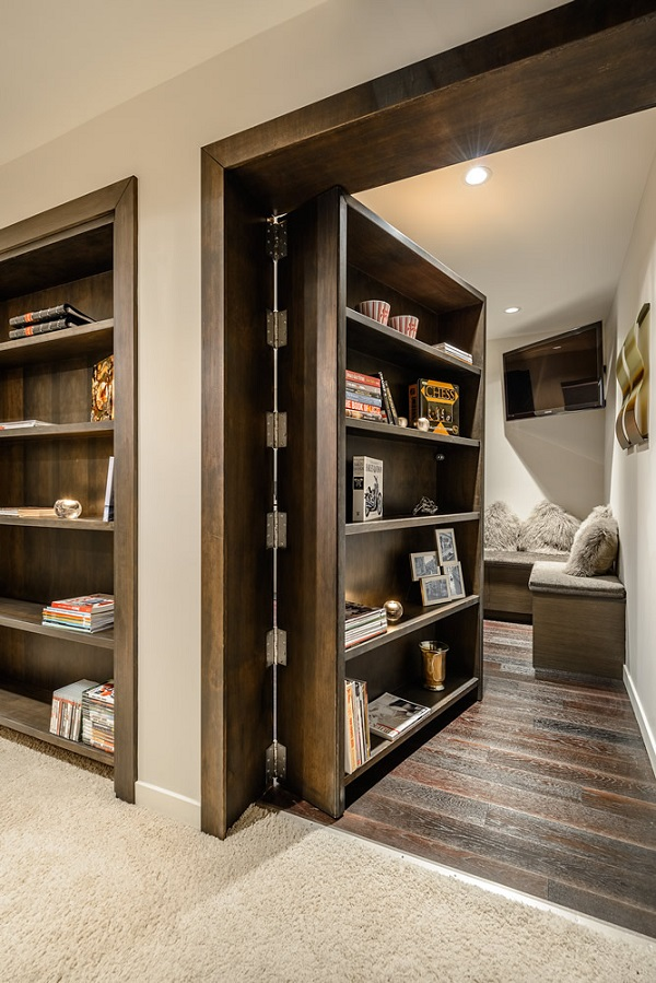 Hidden Door Bookshelves