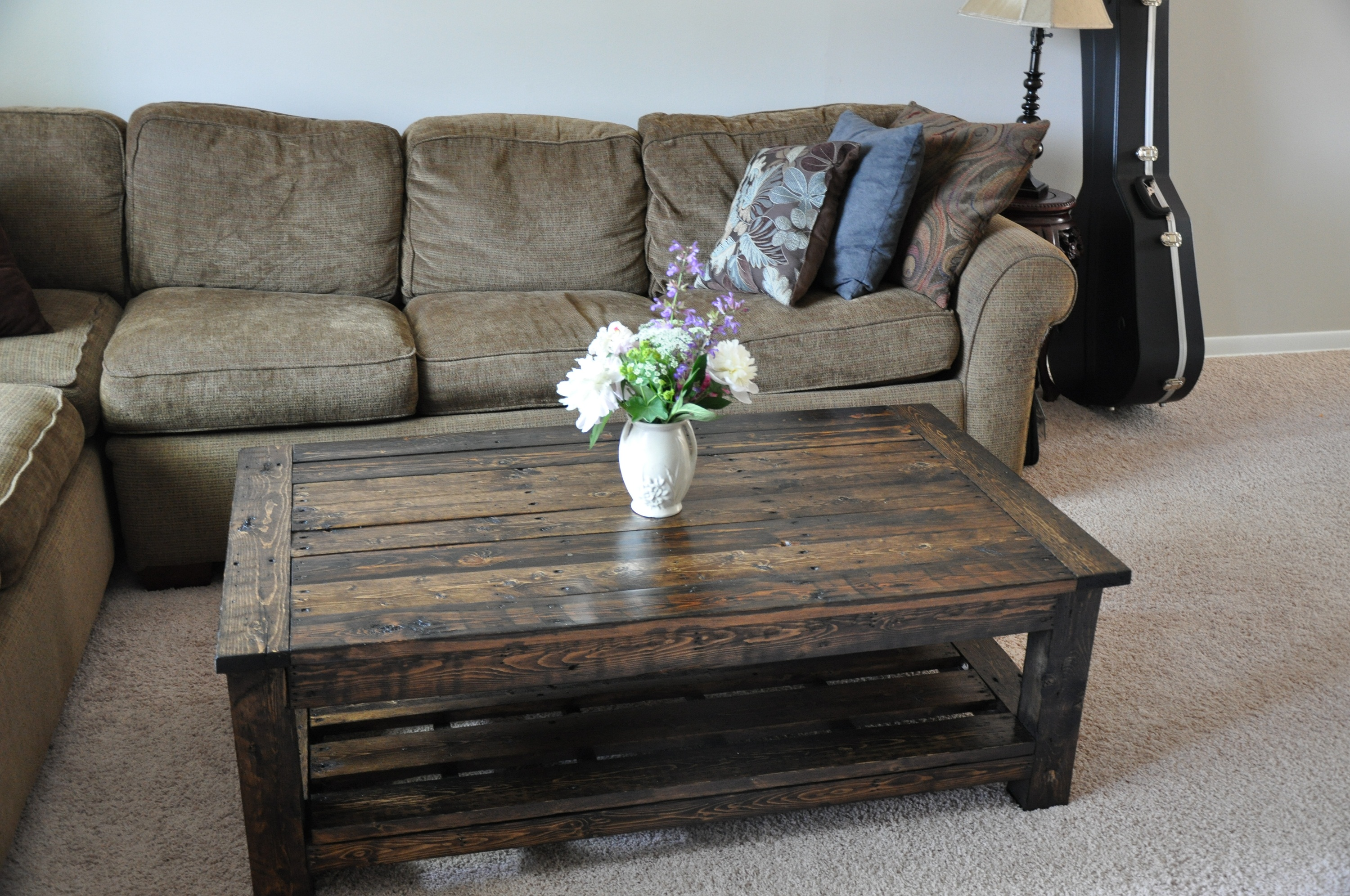 Beautiful coffee table made from pallets