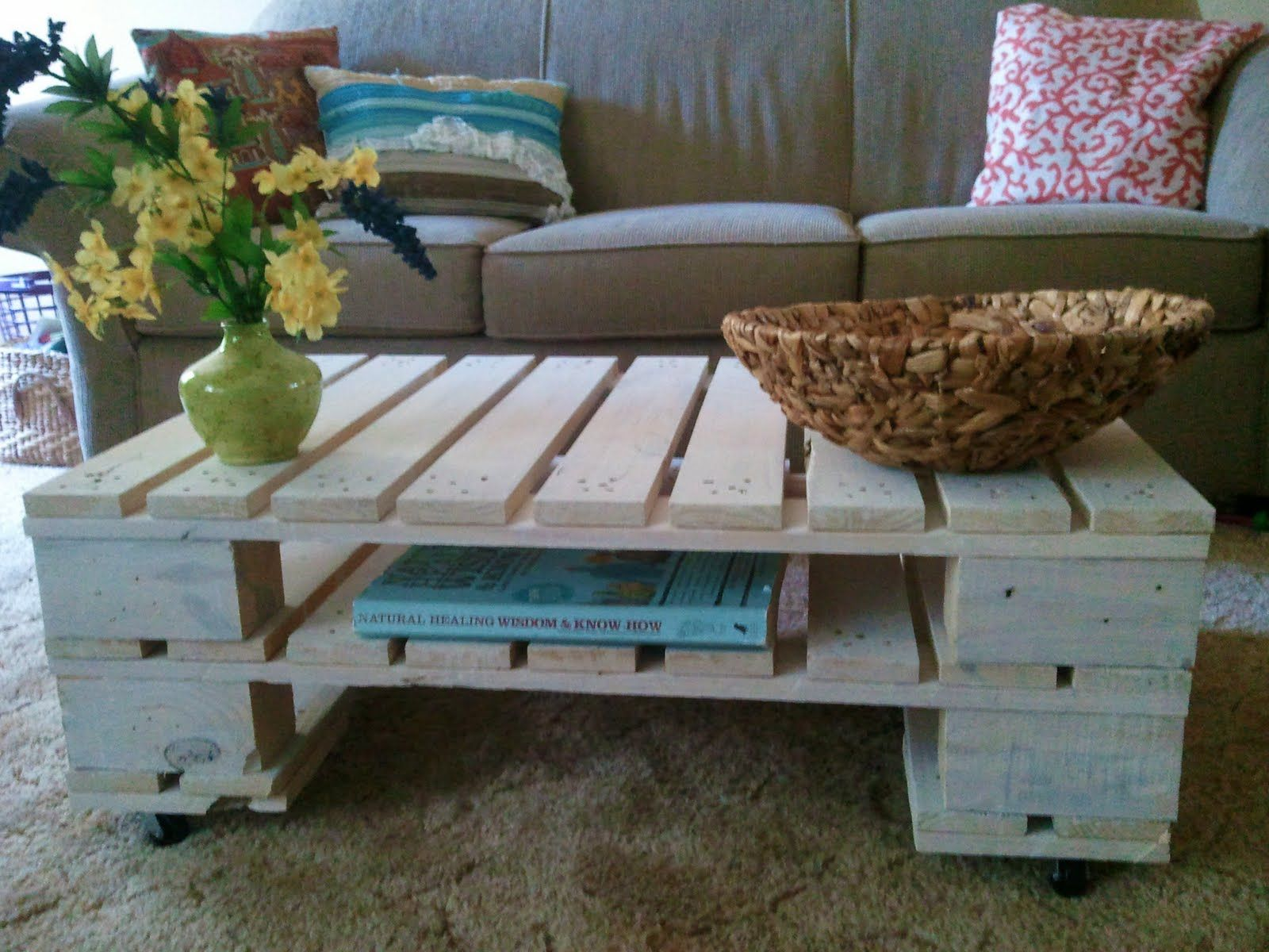 White painted diy pallet coffee table ideas on budget
