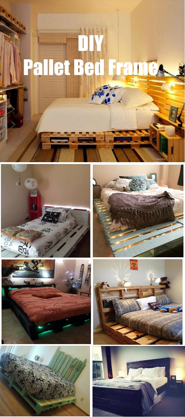Single pallet bed frame - View In Gallery 28 Diy Pallet Bed Frame Design And Ideas