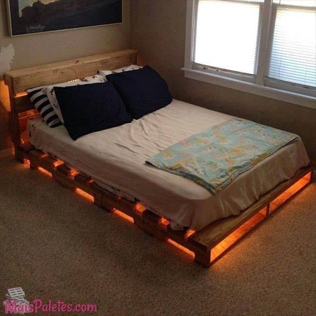 Cool Bed Frame 33 Cool Diy Recycled Pallet Bed Frame To Duplicate  Diy Bedroom .