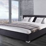 Beliani Water Bed Super King Size Full Set PARIS Black Anthracite