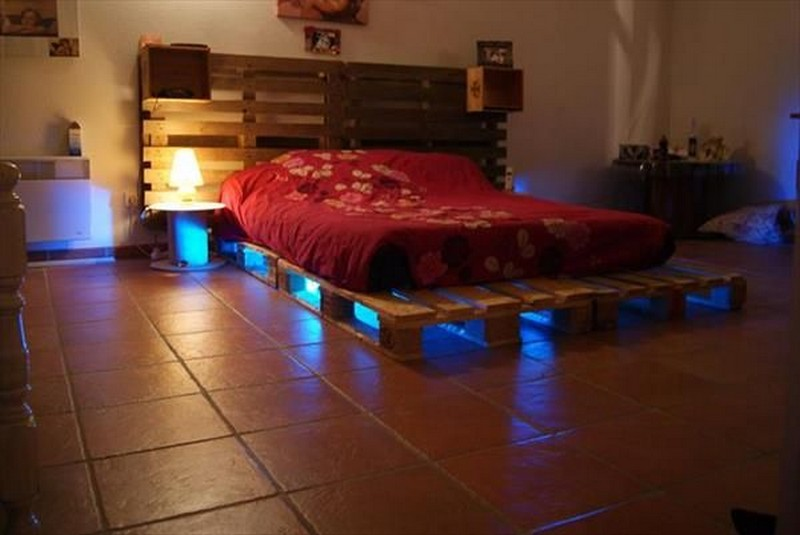 33 Cool DIY Recycled Pallet Bed Frame To Duplicate - DIY ...