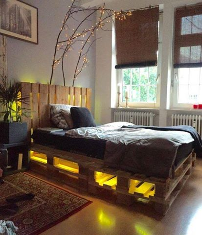View In Gallery Cool Ideas To Create Diy Bed Frame With Storage And Light Underneath