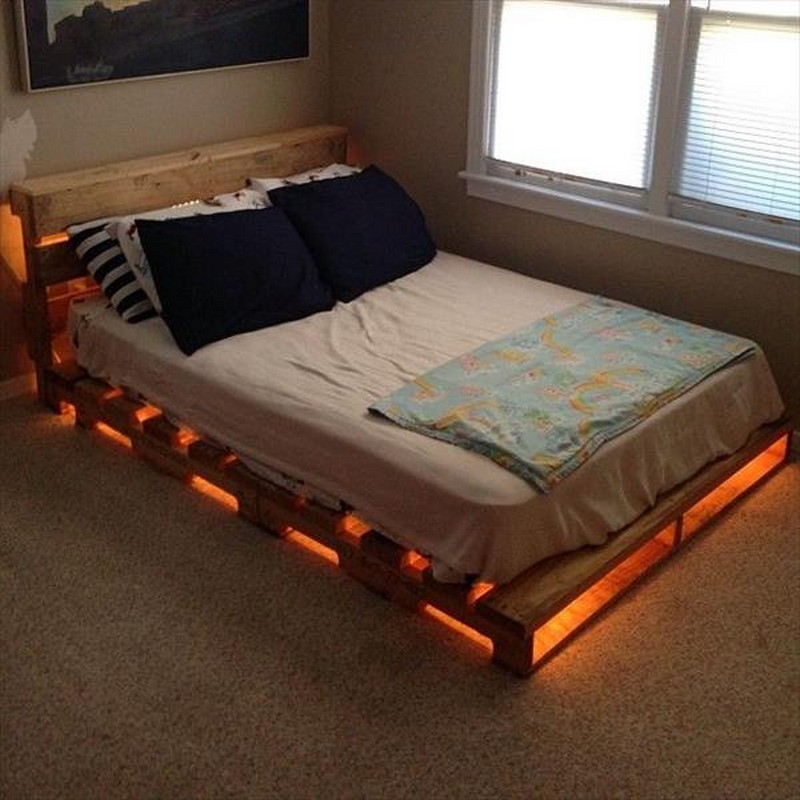 33 cool diy recycled pallet bed frame to duplicate diy for Full size bed frame
